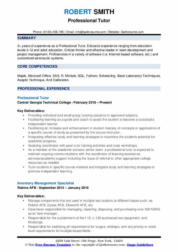 calibration coordinator entry level resume samples