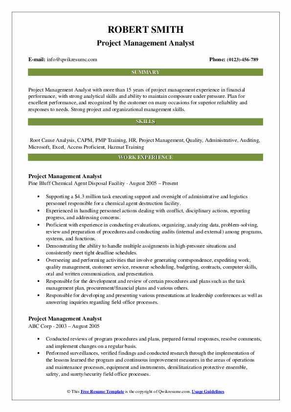 project management skills on resume comprandofacilco