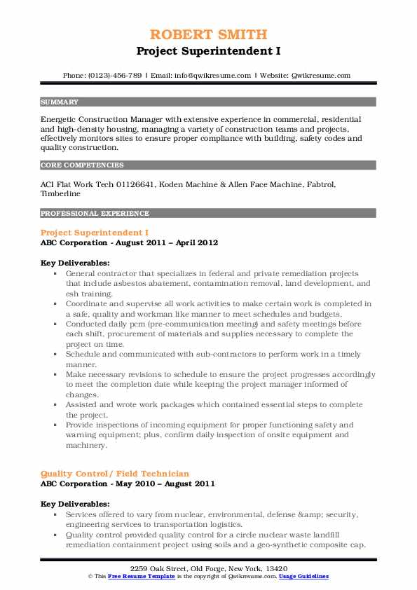 private contractor resume samples