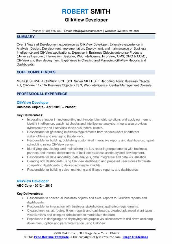 resume headline for web designer