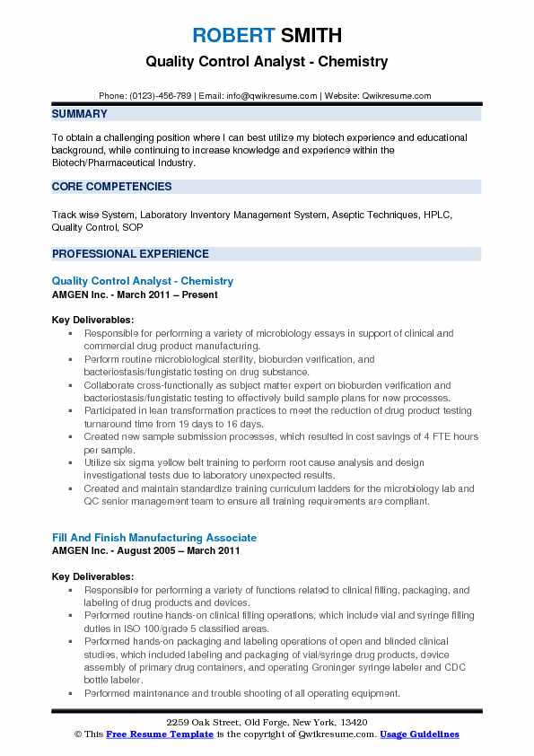 Quality Control Analyst Resume Samples QwikResume - Qc Analyst Sample Resume