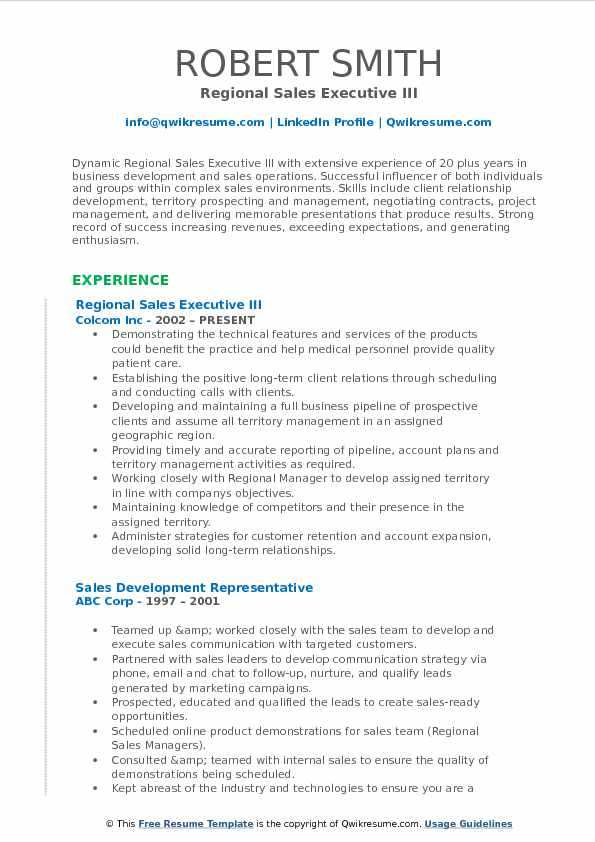 Regional Sales Executive Resume Samples QwikResume - skills to include in resume