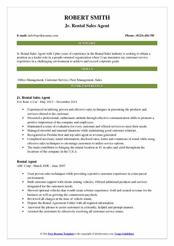 Rental Sales Agent Resume Samples QwikResume - Car Rental Agent Sample Resume