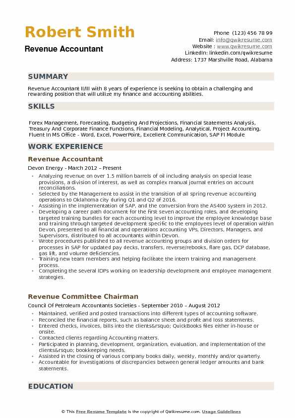resume samples accounting experience