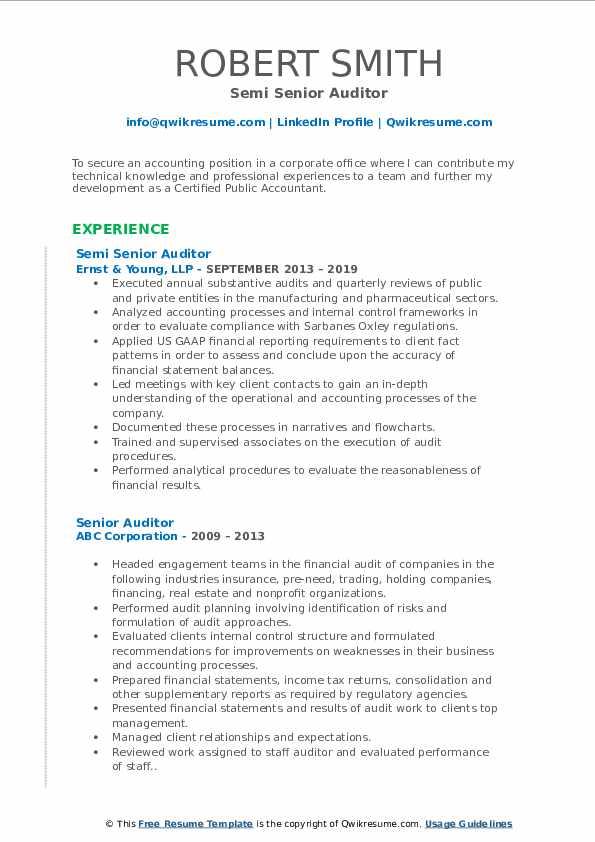 internal auditor pharmaceutical resume sample in word