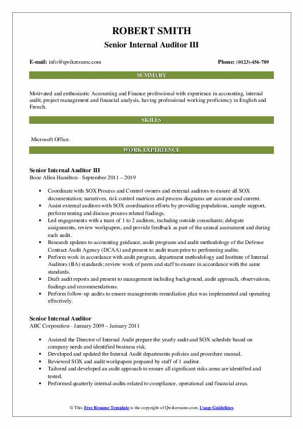 best accounting resume