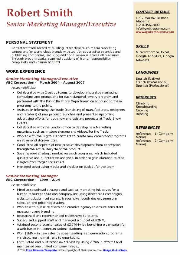 resume samples for advertising agencies