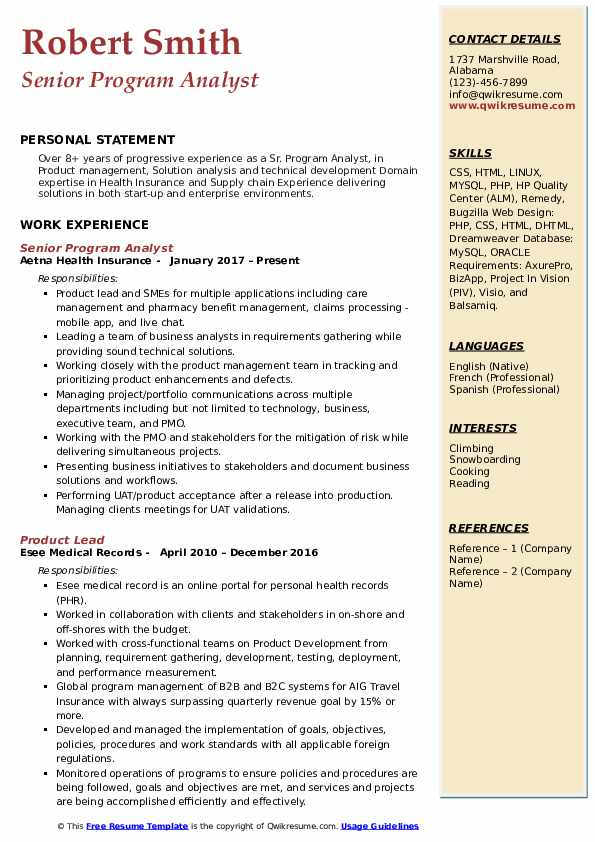 resume classified information