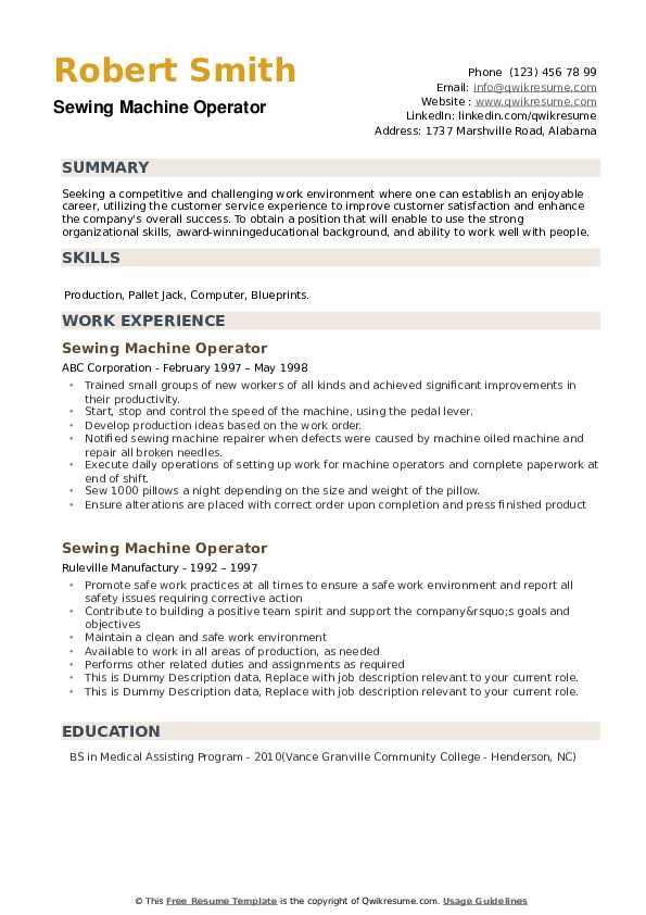 resume samples on pdf