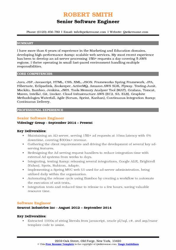 aws resume sample pdf