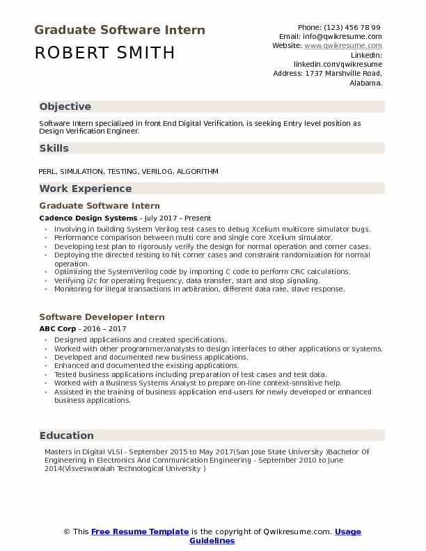 Software Intern Resume Samples QwikResume - design verification engineer sample resume