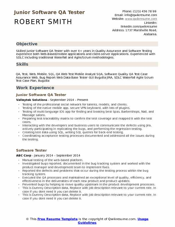 software testing resume samples for 2 years experience