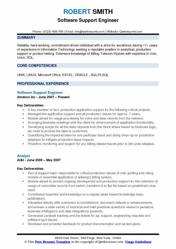 Software Support Engineer Resume Samples QwikResume - production support resume