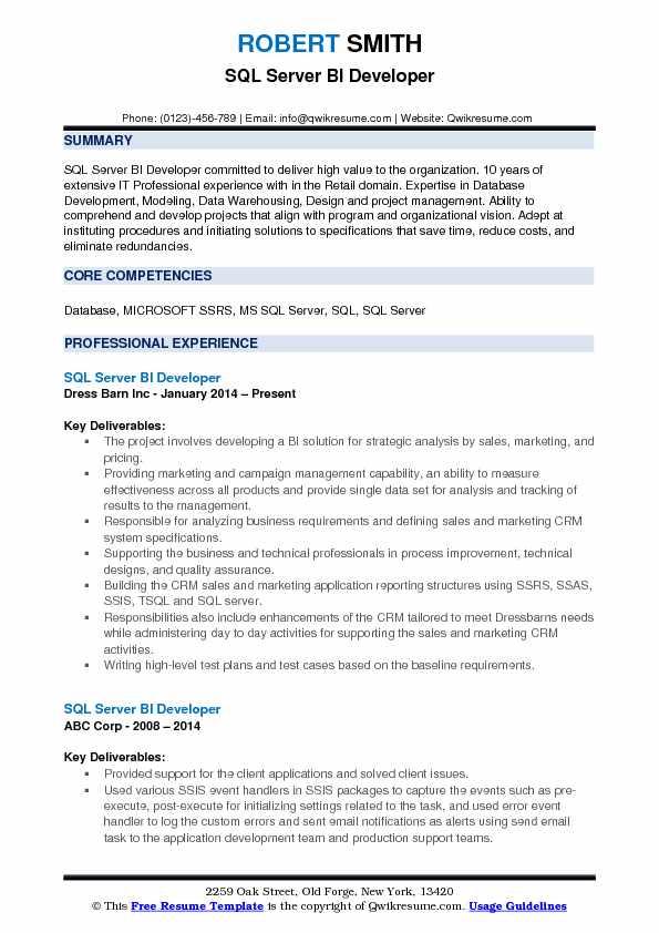 resume description server