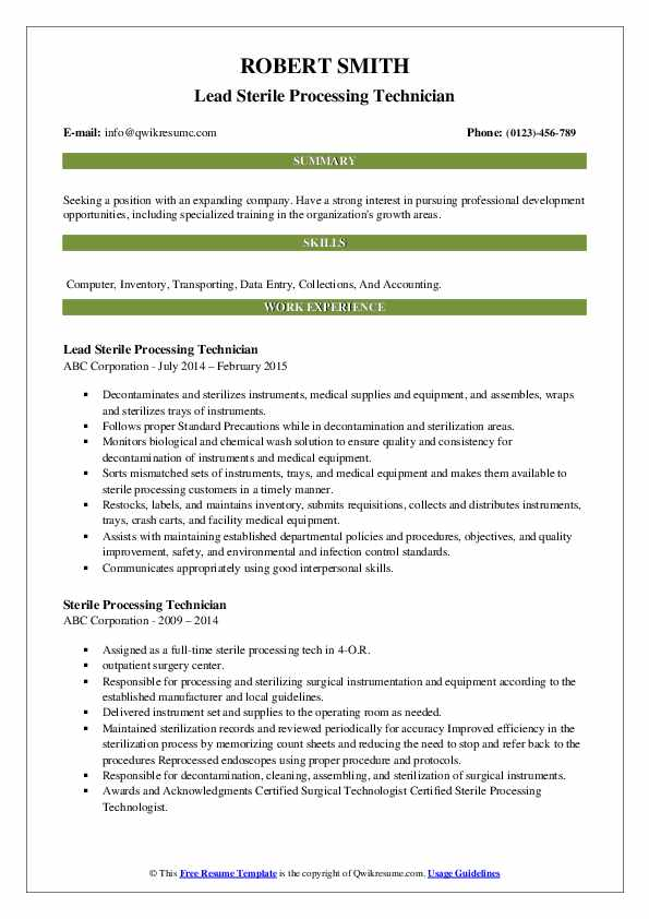 resume objectives samples for processing