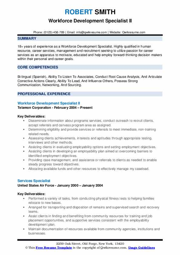 career development specialist sample resume  stay at home mom resume template inspirational stay