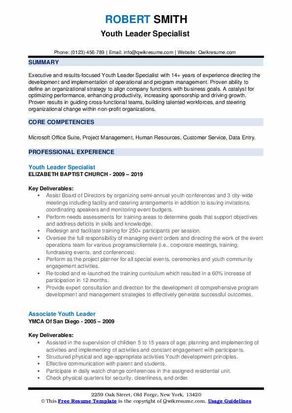 program advisor resume samples
