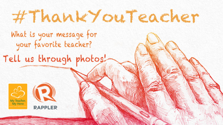 ThankYouTeacher What is your message for your teacher?
