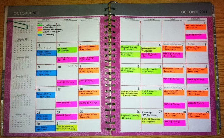 Easy Organization For The Busy College Student - college planner organization
