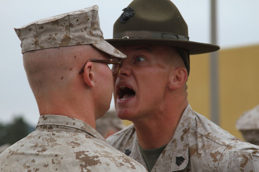 23 Photos of Drill Instructors terrifying the hell out of Marine