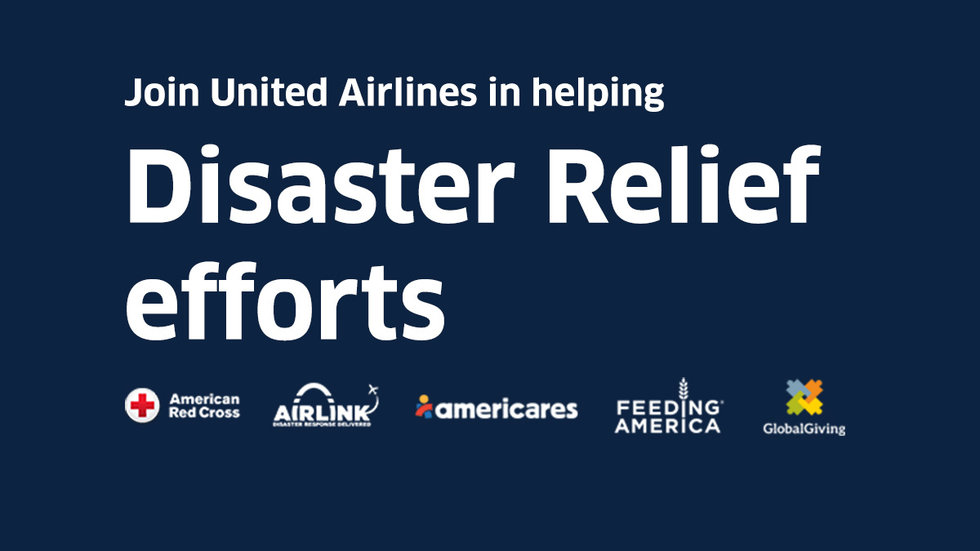United Airlines Launches Online Campaign for Disaster Relief Efforts - disaster relief flyer
