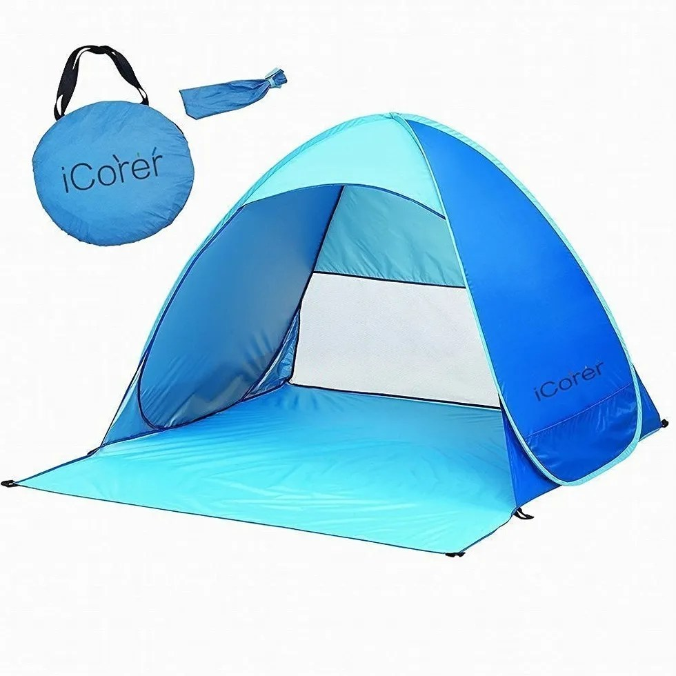 Pop Up Sun Shelter Canada Made In The Shade 9 Easy Beach Tents Your Whole Family Will Love