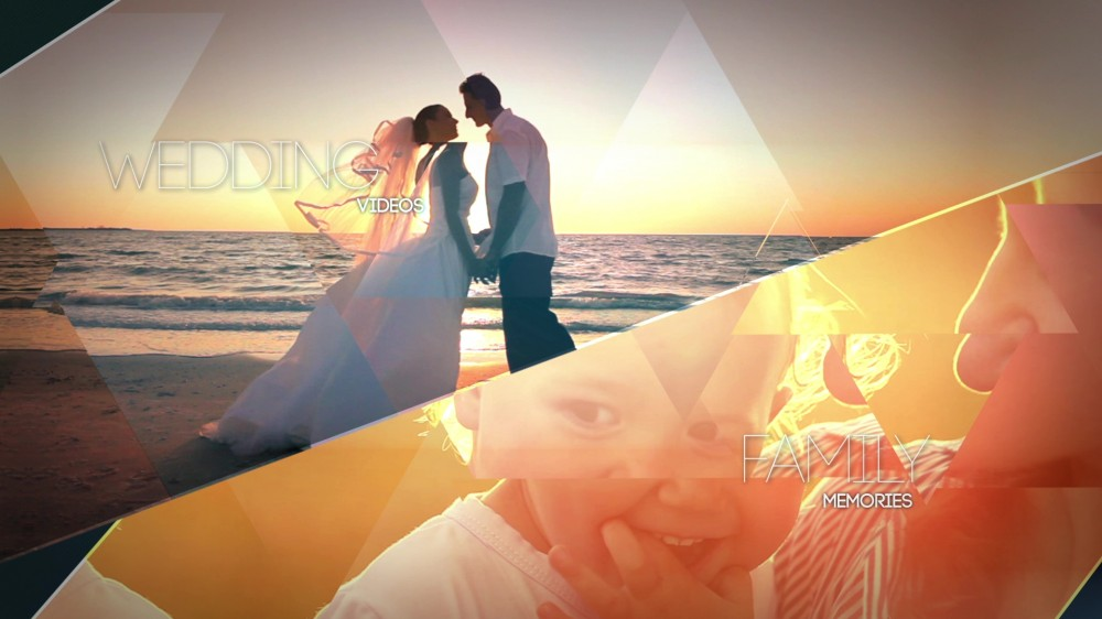 Crystalline Geometric Slideshow - After Effects Template