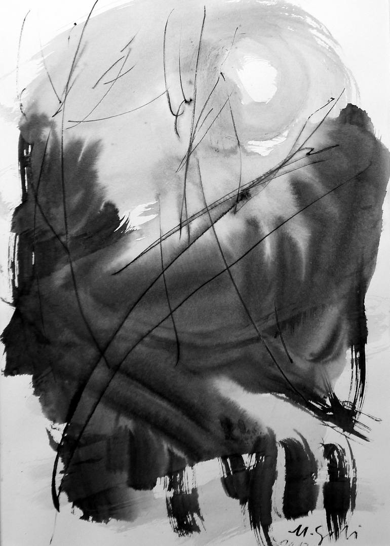 Full Moon Drawing Black And White Full Moon 2