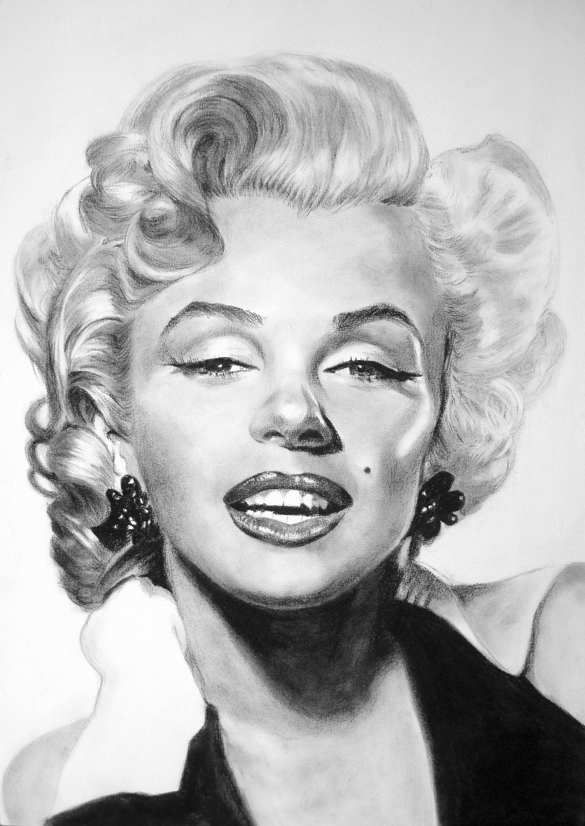 Marilyn Monroe Peinture Saatchi Art Sold Marilyn Monroe Drawing By Frency Vi