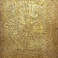 Saatchi Art: Golden Sun I/gold leaf abstract Painting by ...