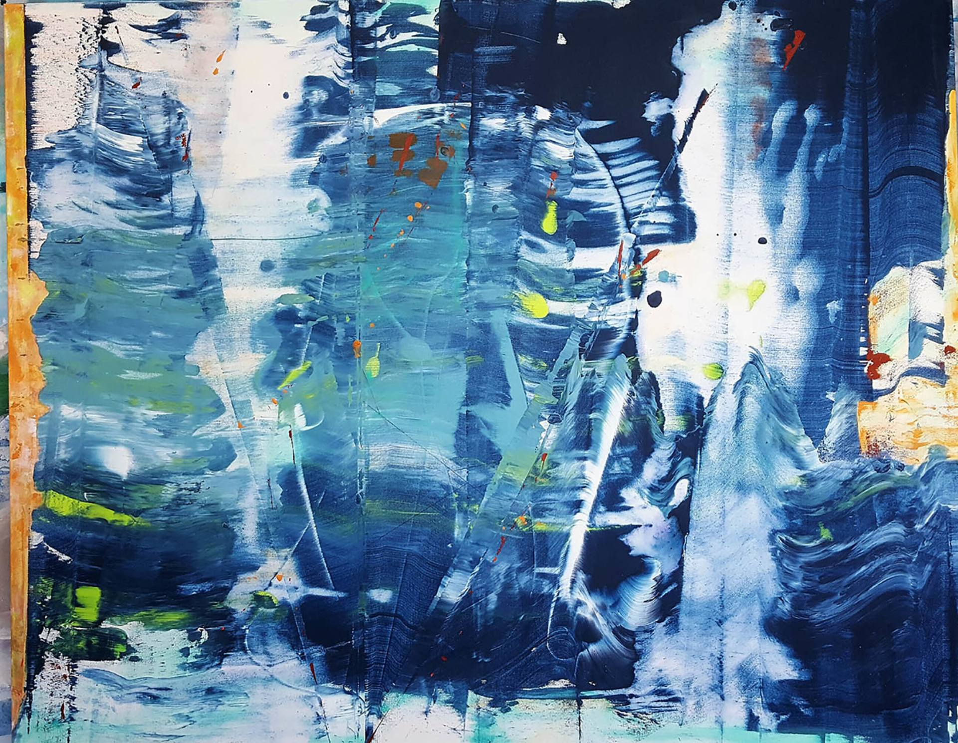 Large Vertical Paintings The Navigator Blue Ocean Large Abstract 60 Quotx48