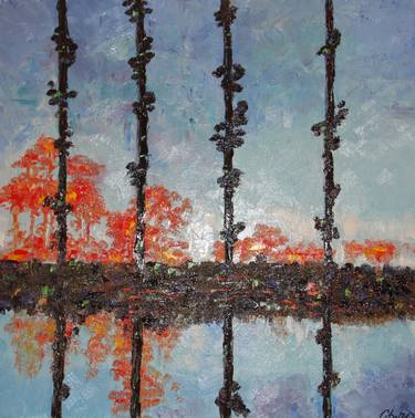 Monet Reflections Painting by Cheri Pedemonte Saatchi Art
