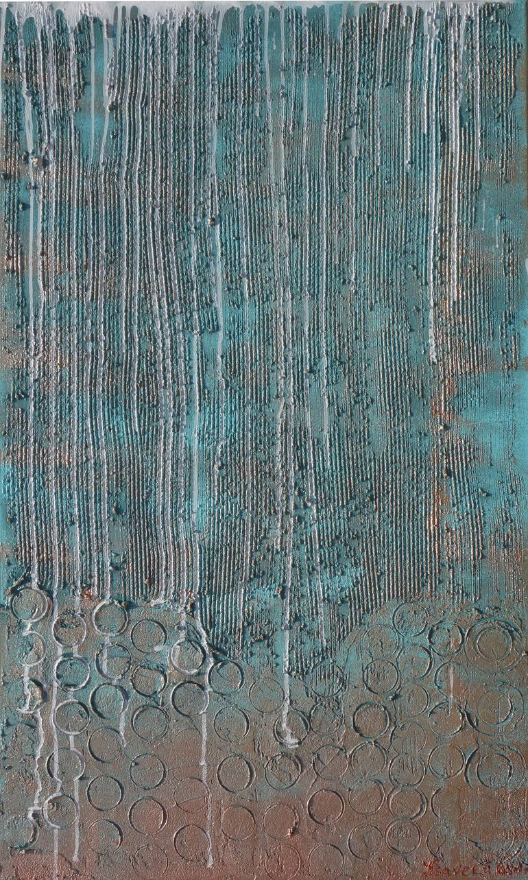 Blue Animal Print Wallpaper Saatchi Art Abstract Turquoise Copper Patina Painting