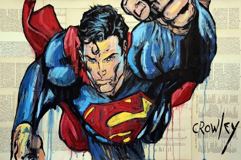 Superman Painting By Darren Crowley Saatchi Art
