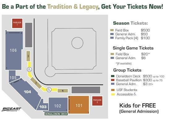 USF\u0027s $500 Baseball Season Tickets That\u0027s Right, $500 - The Daily