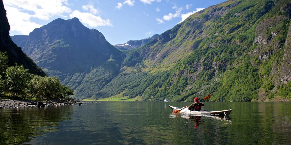 Fjords Nærøyfjord, Sognefjord, Lysefjord, Geirangerfjord - fjord