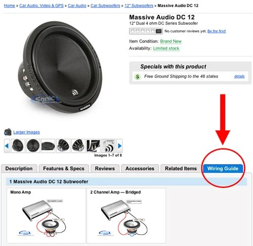 New Wiring Guide on Car Subwoofer Product Pages - Blog Sonic