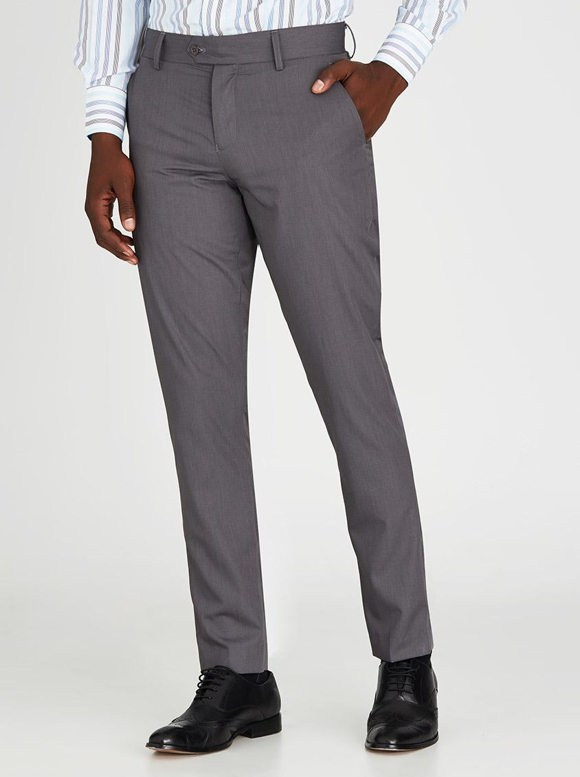 Grey Colour Formal Pant Mens Formal Trouser Dark Grey Massimiliano Formal Pants