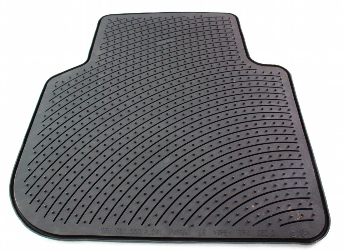 lh rear rubber floor mat 12 14 vw passat b7 genuine monster mat 561