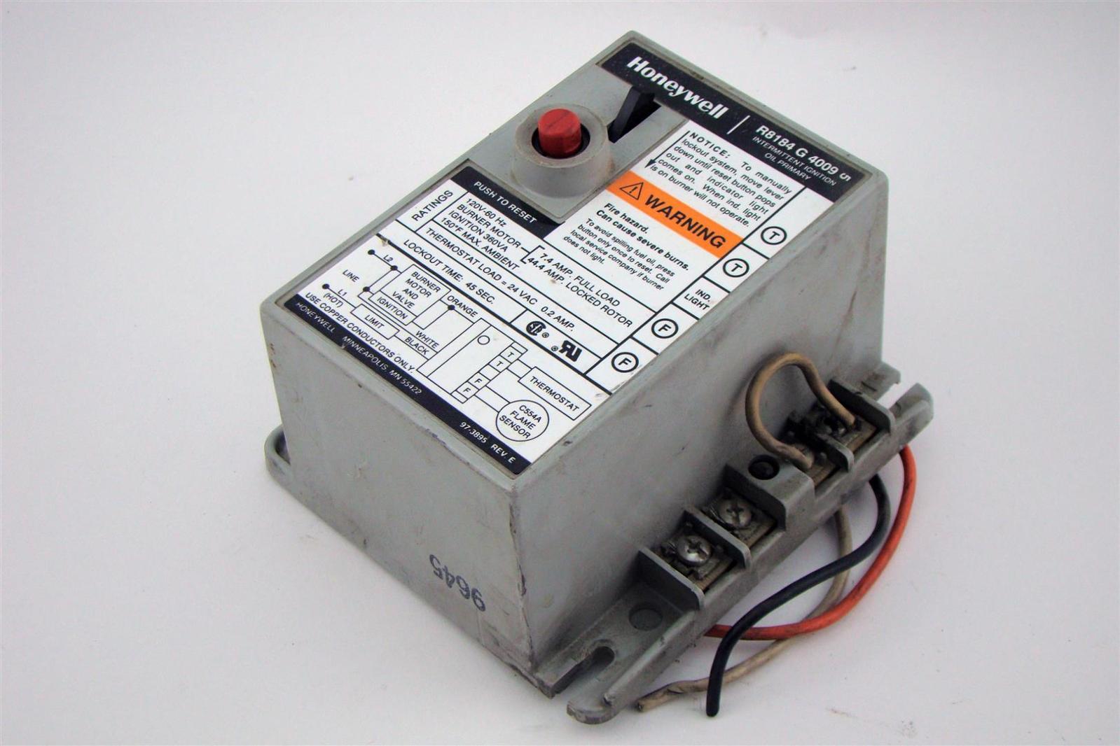 Honeywell Protectorelay Oil Burner Control W 45sec Safety