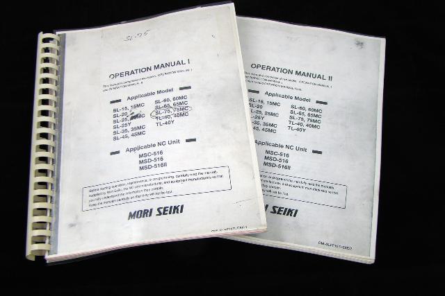Mori Seiki Operation Manual I Joseph Fazzio, Incorporated - operation manual
