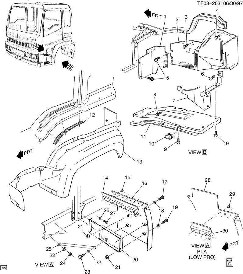 isuzu truck parts diagram