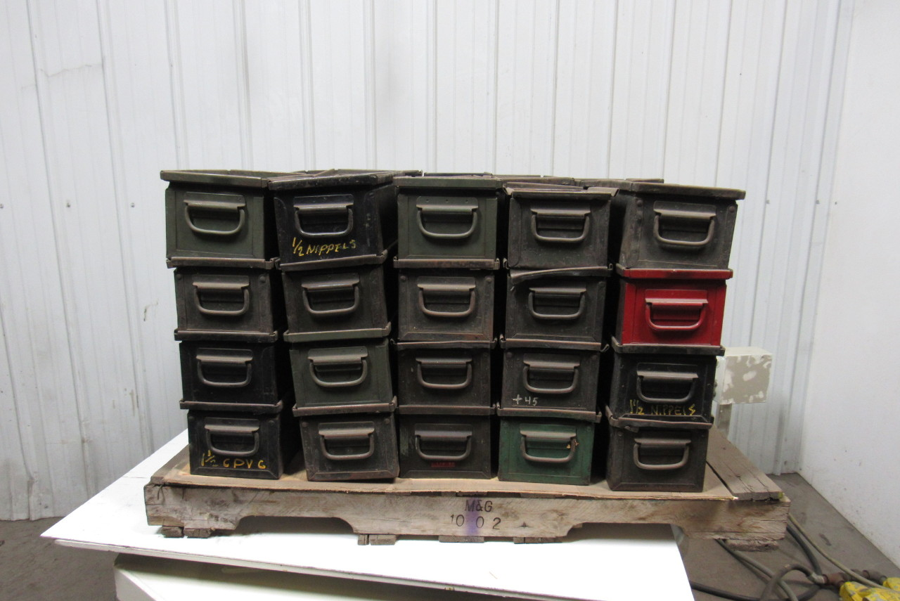 Stackable Storage Bins Vintage Industrial Stackable Steel Storage Bins Quot Ammo Can