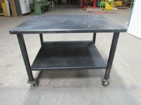 """48""""x40"""" Rolling Steel Assembly Set Up Work Table 1/4"""" Top ..."""