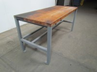 """Welded Steel Industrial Work Bench W/1-3/4"""" Butcher Block ..."""