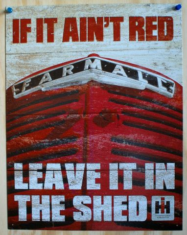 If It Aint Red Farmall Tin Sign Farm Barn Tractor International Harvester IH 10A