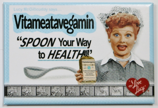 Oil Lamp Vs Lantern I Love Lucy Spoon Your Way To Health Fridge Magnet Classic