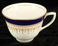Elegant Royal Worcester Tea Cup and Saucer Regency Cobalt ...