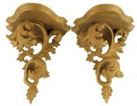 Antique Italian Art Nouveau Wooden Gilded Wall Sconce Pair ...