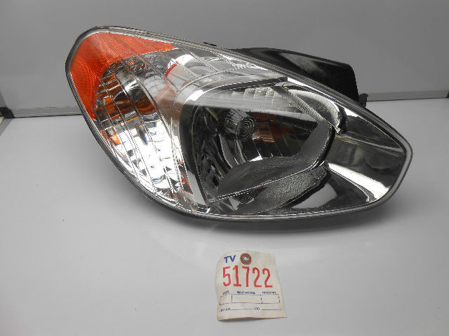 Hyundai Accent Halogen Headlamp Headlight Right 2006 2011